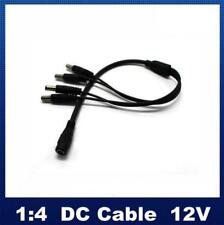 1 to 4 Way 2.1mm DC Power Splitter Cable For 12V CCTV PSU Security Cameras DVR