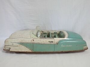 VINTAGE MARX TOY CO MADE IN USA SPORTSTER PRESSED METAL TIN LITHO CAR 4117