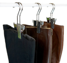 Hanging Boot Rack -Boot Storage with 6 Silver Hangers by Boottique