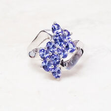 QVC 1.25 cttw Tanzanite Cascade Waterfall Sterling Silver Ring Size 6 QVC $187
