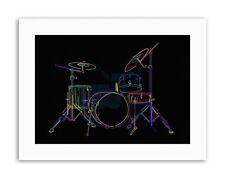 COLOURFUL DRUM KIT MUSIC INSTRUMENT Picture Painting Music Canvas art Prints