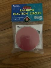 Basic Rainbow Fraction Circles. New. Great Math Teaching Tool.