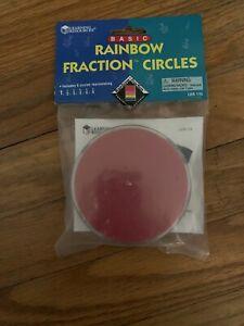 Basic Rainbow Fraction Circles. New. Great Math Teaching Tool.