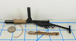 MINIATURE BRITISH COMMANDO WWII STEN GUN W MAGAZINE & SUPPRESSOR 1/6 SCALE