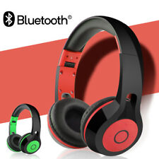 Bluetooth Headphone Over Ear Hi-Fi 3D Stereo Wireless Wired Headset for Computer