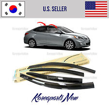SMOKED DOOR WINDOW VENT VISOR DEFLECTOR (A126) HYUNDAI ACCENT SEDAN 2012-2017