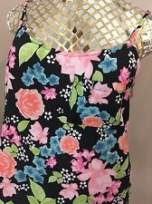 Size Med Cami Shell Spaghetti  pocket Tank top Shirt Blouse Floral Summer H&M