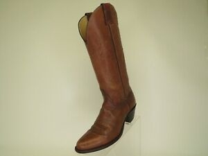 Justin Brown All Leather Cowboy Western Boots Womens Size 8 B Style 4367