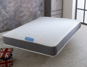 Orthopeadic Quilted Memory Foam Sprung Mattress 3ft single 4ft 4ft6 Double King