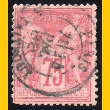PAIX & COMMERCE TYPE II (U/N) 75c ROSE TYPE SAGE N° 81 - COTE 125 EUROS