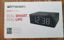 NEW! Emerson SmartSet- Bluetooth Speaker, Dual USB Charging, Fm Radio.. ER100102