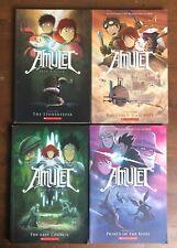Lot 4 AMULET Graphic Novels Kazu Kabuishi 1 3 4 5 Excellent