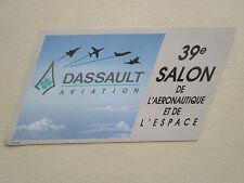 AUTOCOLLANT STICKER AUFKLEBER DASSAULT AVIATION 1991 39 ème SALON DU BOURGET