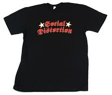 Social Distortion Spring Tour 2007 Skelly Black T Shirt New Official Band Merch