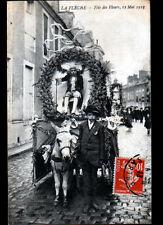 LA FLECHE (72) CHAR Fleuri à la CAVALCADE / FETE des FLEURS en 1913