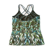 prAna Women's Size L Large Strappy Activewear Tank Earthy Natural Print Stretch