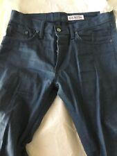 "Gustin Mens Steel Blue Skinny USA Cone Mills Selvedge Denim Jeans - 30"" x 36"""