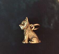 Beaucoup Designs Yorkie Charm Gold Dog Charm