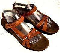 Skechers Shape-Ups Womens Size 9.5 Toning Sandals Beach Slingbacks Brown Leather