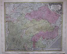 1740ca BAVARIA Matthäus Seutter Bayern Oberbayern Niederbayern acquaforte