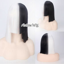SIA Singer This is Acting Black And White Bob Hair Women Fashion Hot Cosplay Wig
