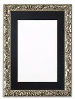 Antique Cushion Ornate Swept Picture Photo Poster Frame With Bespoke MountSILVER