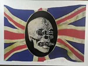 Jamie Reid God Save Damien Hirst Signed Limited edition fine art print 15/300