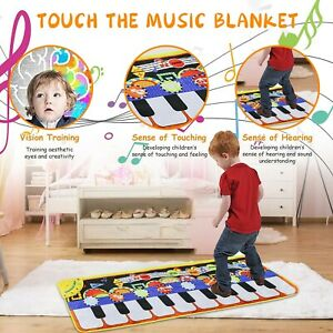 GIGANTIC MUSICAL KIDS PIANO KEYBOARD MUSIC PLAY MAT DANCE PARTY GAMES FUN TOY CH