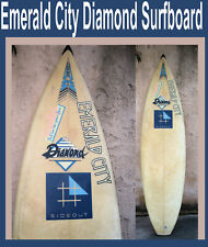 Team Diamond Emerald City SurfBoard Signed by Shaper 3 fin Classic surf board