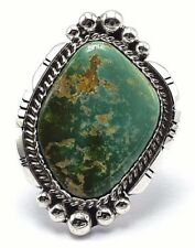 Navajo Handmade Sterling Silver Royston Turquoise Ring - Augustine Largo
