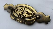 "Antique Hardware Vintage Brass Chippendale Colonial drawer pull 4 1/2"" centers"