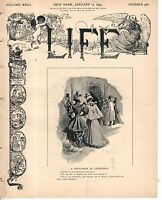 1894 Life January 11-Cinderella Dances; Soft Coal soot smoke not wanted in NYC