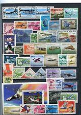 Kleine Sammlung  Flugzeugmotive, meist o  ( 38495 )