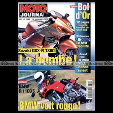 MOTO JOURNAL N°1340 BMW R 1100 S VOXAN SUZUKI 1200 INAZUMA GSXR 1300 SV 650 '98