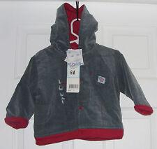 Polisson Baby Boy's  Fleece Lined Hooded Corduroy Jacket Green SZ 6 Months