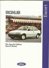FORD ESCORT SPECIAL EDITION BONUS SALES 'BROCHURE'/SHEET JULY 1992