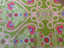 Michael Miller Ooh La La Coeur de Fleurs Green Floral Cotton Quilting Fabric FQ