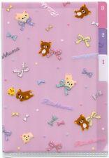 San-X Rilakkuma Relax Bear Index 3 Pockets A6 Mini Plastic File Folder #18