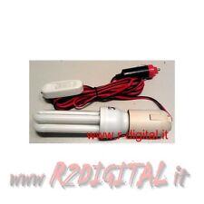 LAMPADA ACCENDISIGARI E27 20W AUTO 12V CAMPER ON OFF RISPARMIO INTERRUTTORE