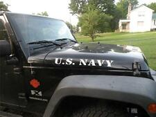 US NAVY JEEP WRANGLER HOOD DECAL 2 PC SET 4X4 ORV OFF ROAD  STICKER DECAL