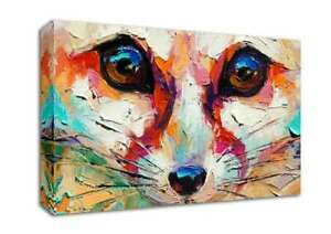 Close Up Fox Painting Abstract 30552 Canvas Print Wall Art