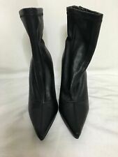 Forever 21 Womens Solid Black Stiletto Pointy Toe Booties Heels 7