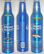 DENVER BRONCO NFL 2014 SUPER BOWL CHAMPS FOOTBALL SPORT ALUMINUM BEER BOTTLE-CAN