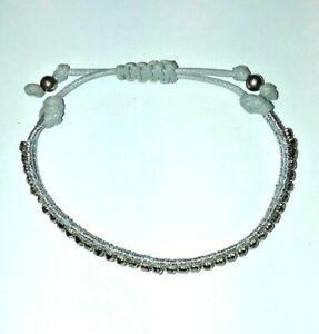 Hematite Rhinestone Sparkle Adjustable Zen Friendship BRACELET Be Calm Stay Zen