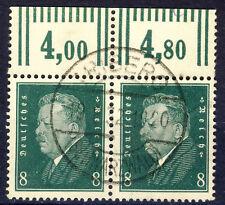 Deutsches Reich o Nr. 412 WOR - Reichspräsident - waag. PAAR - VOLLSTEMPEL