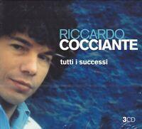 3 CD Box Set COCCIANTE RICCARDO - TUTTI I SUCCESSI - THE BEST IL MEGLIO nuovo
