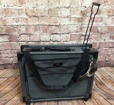 """Tutto 21"""" Wheeled Garment Bag Collapsible Luggage New Old Stock NOS Vintage Gray"""