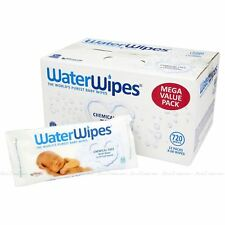 Water Wipes Sensitive Chemical Free Baby Disposable 720 Wipe Pcs Pack of 60 X 12