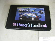 OWNERS MANUAL Saturn S Wagon 1994 94 329578