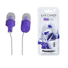 Panasonic RP-HJE100-V Ear Candy In Ear Earphones RPHJE100 Purple /GENUINE